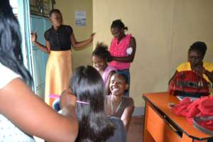 Hairdressing class ongoing at the GEC