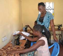 Dress-making class in progress at the GEC