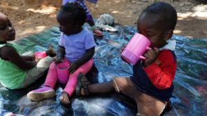 Children enjoying nutritious Porridge
