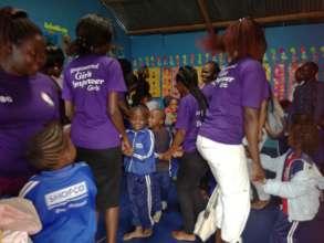 Girls Steering Committee members at SHOFCO