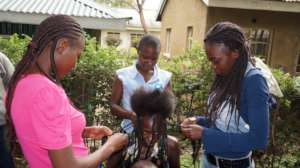 Hairdressing practical sessions at GEC
