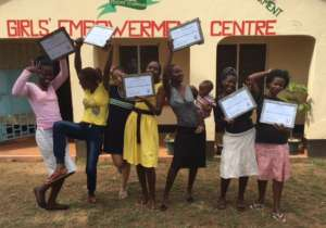 NIGEE girls after completing a training