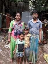 Arjina Bibi with her family