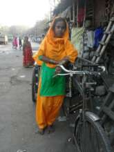 Hena and her cycle van