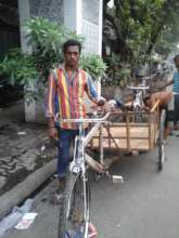 Safikul with his new cycle van