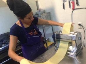 Azucena Making Pasta