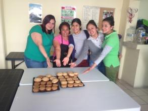 Cupcake baking team