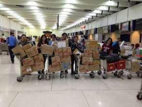 Supplies and volunteers from Jakarta