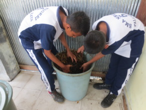 The compost in now used regularly at school