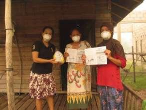 Masks and leaflet distribution in villages