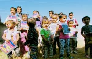 study material distributed to poor children