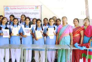 Happy Girl Students with English Speaking Books