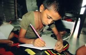 Children studying at Pathshala school