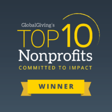 GlobalGiving 10 Top Non Profit Winner