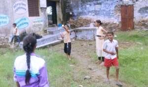 Pathshala children Playing Badminton