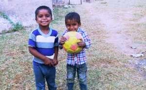 Pathshala children Playing Football