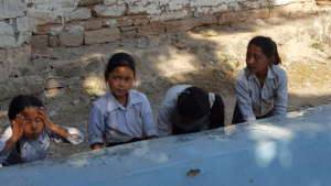 A hand-washing station getting full use
