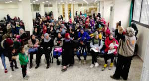 Women attend DfG Kit distribution