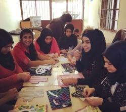 Learning to sew DfG shields in Akkar