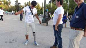 New Leg  for Young Man