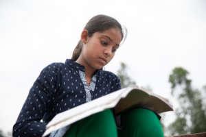 Muskan spending her time in self studies