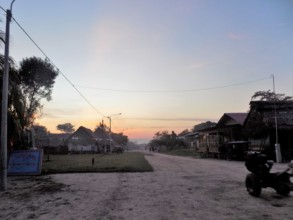 Sunset in the native community of Paohyan