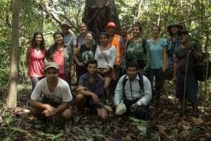 AA team with community members in Calleria