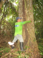Hugging trees!