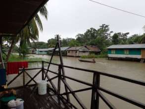 Floods in the community of Nueva Saposoa