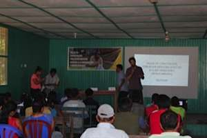 Workshop in the Shipibo community of Poayan