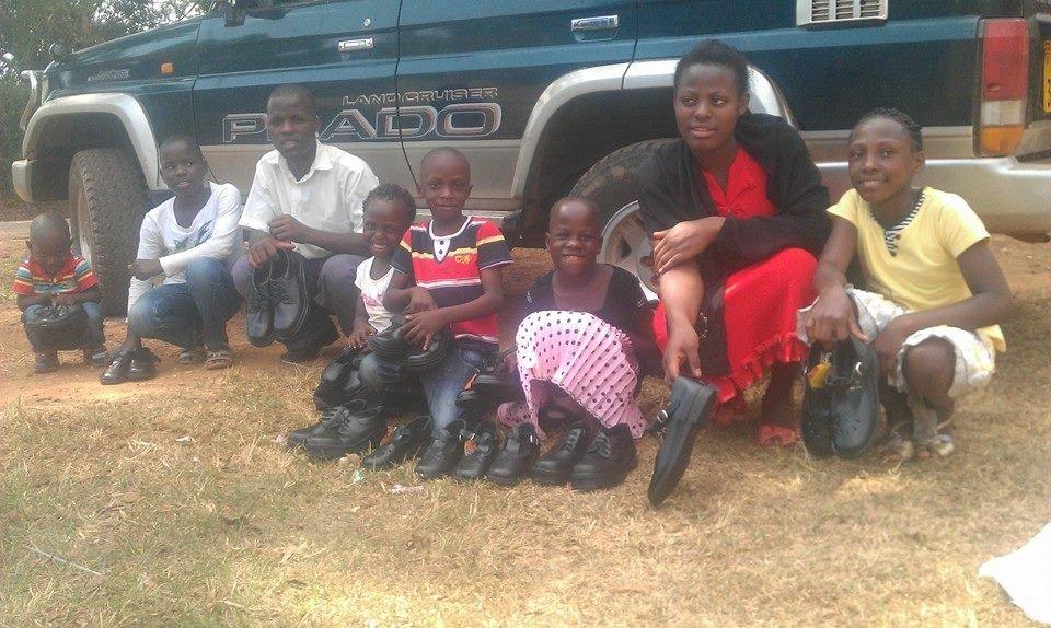 15 kids need New school shoes in Uganda