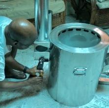 Installing stove