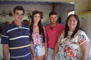 Beautiful hosts Faustino, Barbara, Caio & Lurdinha