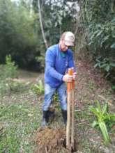 Alfredo on the job 1. Hole digging