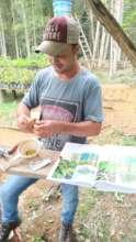 Alfredo preparing seeds