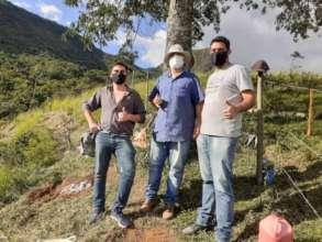 Volunteer planting team