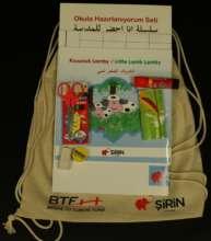 Kit includes basic stationary tools, activity book
