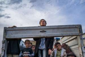 Syrian Kurdish refugee children