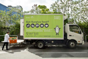 Our logistic team collecting surplus food
