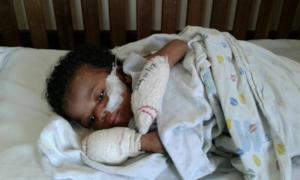 Baby Ziwadi at hospital