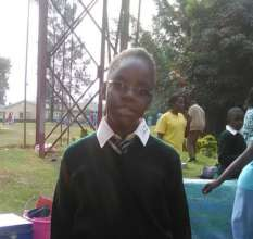 Gloria on her first day at Lugulu Secondary School