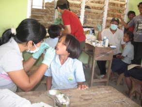 Dental check at the school