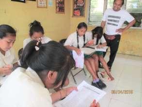 Junior high students at EBPP Pengalusan school