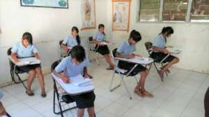 Pengalusan elementary students studying at school