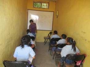 Primary school children during mathematics class