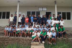 All Jatituhu children & teachers smile