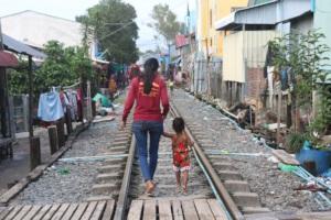 Working with children from poor neighborhoods