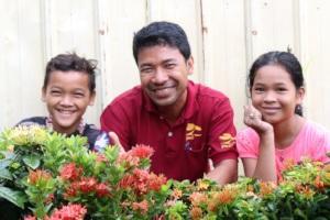 new center staff and children