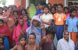 Girls and women of the villages
