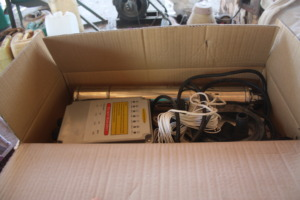 The pump in the box before setting it up.